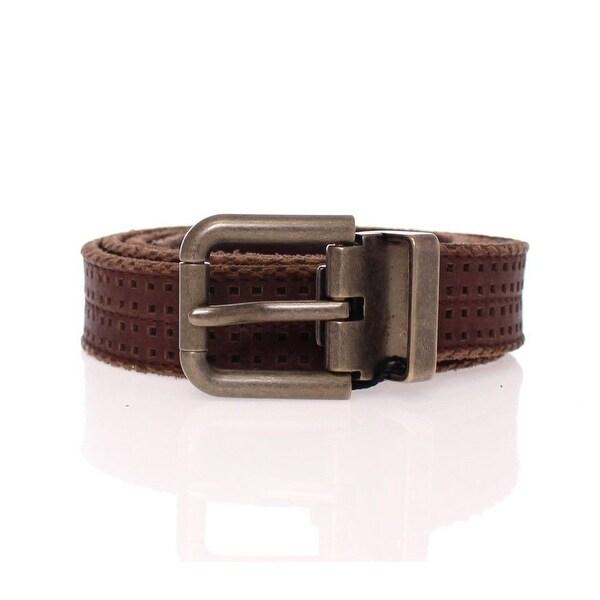 Dolce & Gabbana Dolce & Gabbana Brown Leather Logo Belt