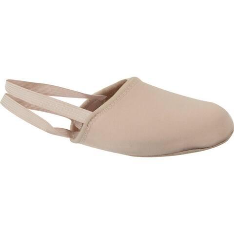 Girls Pink Suede Outsole Half Ballet Slipper 10 Toddler-4 Kids