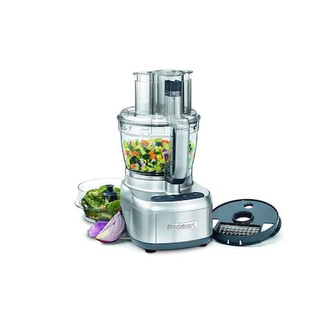 Cuisinart FP-13DSVFR Elemental 13-Cup Food Processor, Silver, Certified Refurbished