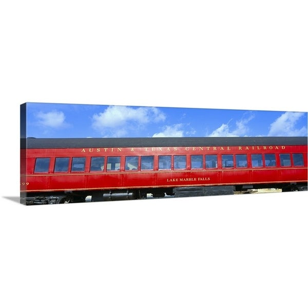 """Historic red passenger car, Austin"" Canvas Wall Art"
