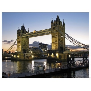 """""""Tower Bridge in London, England, over the River Thames."""" Poster Print"""