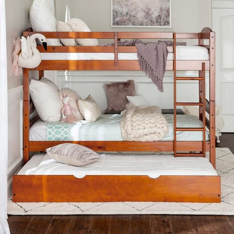 Taylor & Olive Wood Twin over Twin Bunk Bed with Trundle
