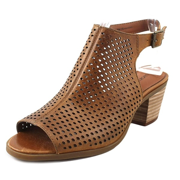 501b20a58f1 Shop Lucky Brand Bertel Women Open-Toe Leather Brown Slingback ...