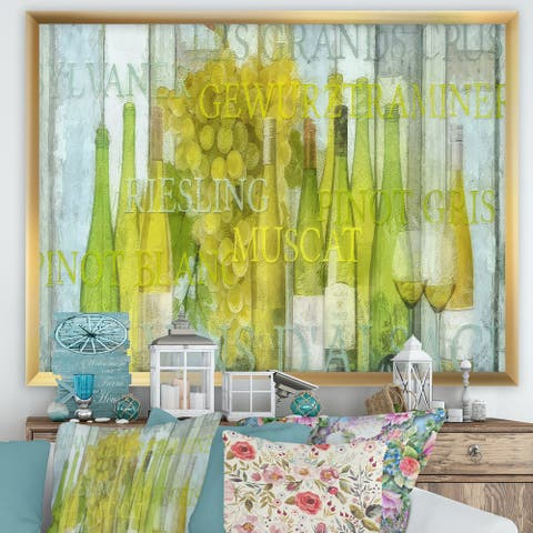 Designart 'Alsace Wine' Cottage Framed Art Print
