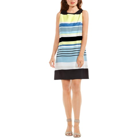 Vince Camuto Womens Casual Dress Striped Sleeveless