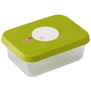 Joseph Joseph Dial Storage Rectangular Container with Datable Lid, 33.8 Ounces Green