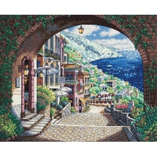 "Gold Collection Coastal View Counted Cross Stitch Kit-15""X12"" 18 Count"