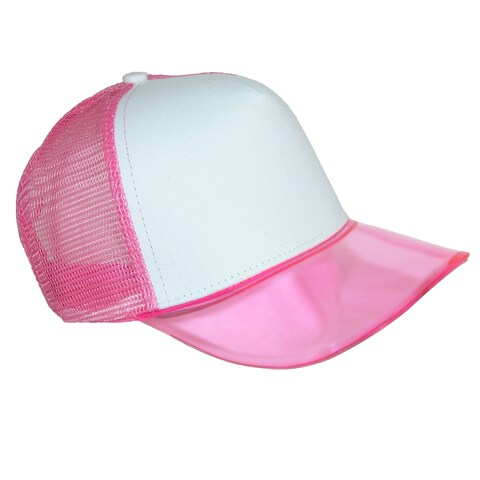 CTM® Translucent Color Brim Baseball Cap with Mesh Back
