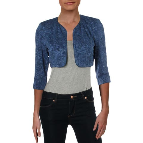 Alex Evenings Womens Petites Bolero Knit Crop - 6P