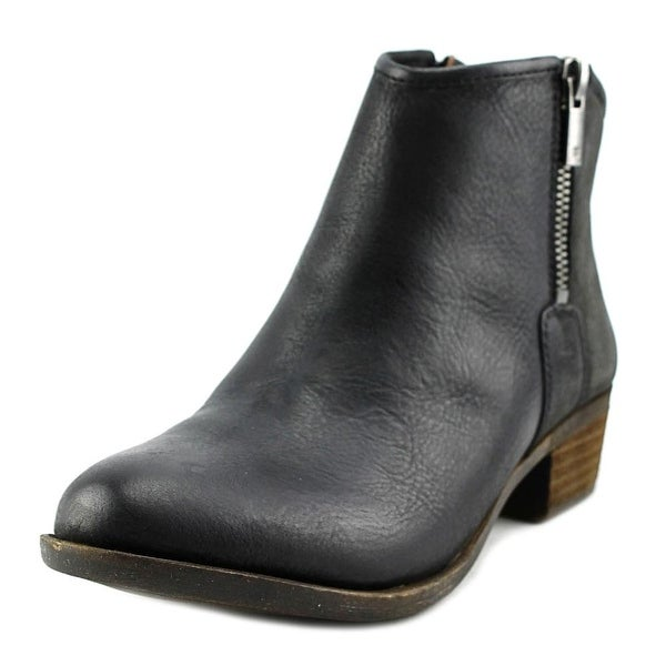Lucky Brand Boom Round Toe Leather Bootie