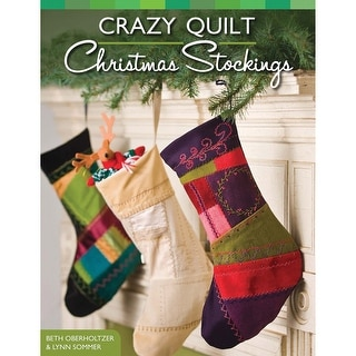 Design Originals-Crazy Quilt Christmas Stockings