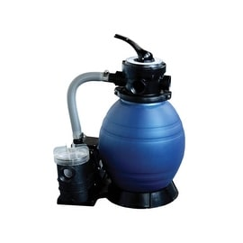 """12"""" Top-Mount Above-Ground Swimming Pool and Spa Sand Filter and .35 HP Pump System"""