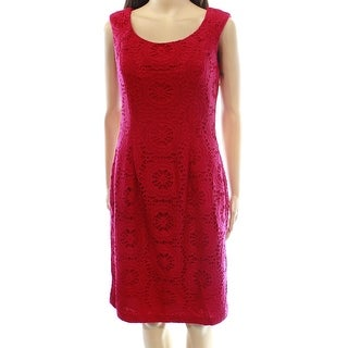 Adrianna Papell NEW Red Women's Size 2 Floral Lace Sheath Dress