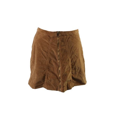 Buffalo David Bitton Brow Zip-Front Cadby Corduroy Skirt 29