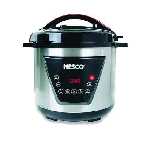 Nesco American Harvest Nesco PC8-25 Pressure Cooker, 8 quart, Silver & Black