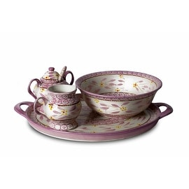 Temp-Tations Old World Dinnerware Complete Set 5-piece Lilac