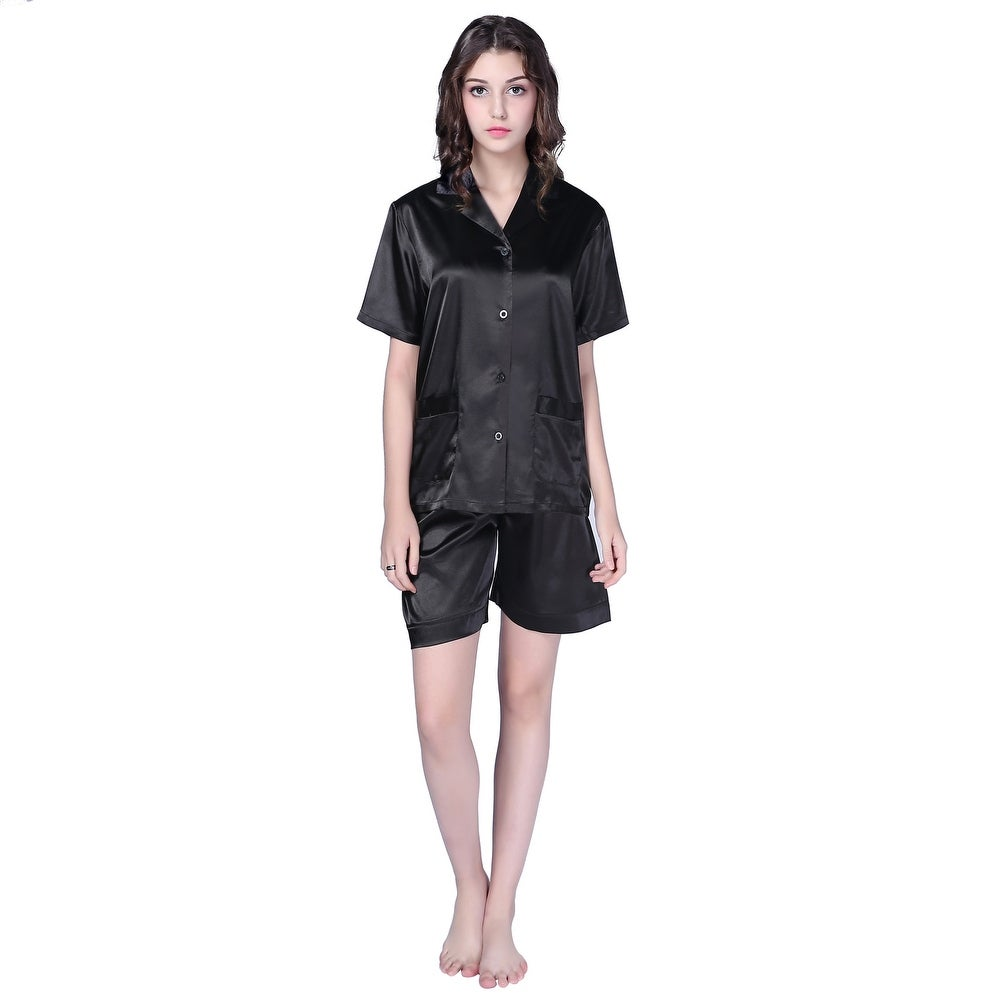 Richie House Womens Satin Sleepwear Set with Shorts