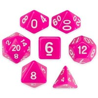 Set of 7 Polyhedral Dice, Dragonberry