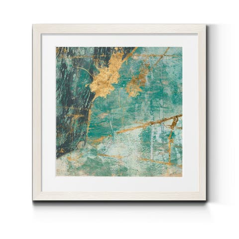 Teal Lace I -Premium Framed Print - Ready to Hang