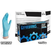 GLOVEWORKS Blue Nitrile Industrial Powdered Disposable Gloves (Case of 1000)