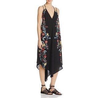 Free People Womens Ashbury Slip Dress Pindot Floral Print