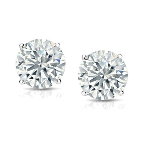 18k Gold 1 1/4ct TDW Lab Grown Diamond Stud Earrings by Ethical Sparkle