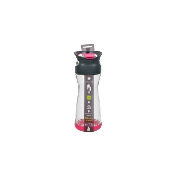 Full Circle Home On the Go Lemon Glass Water Bottle - Raspberry Water Bottles