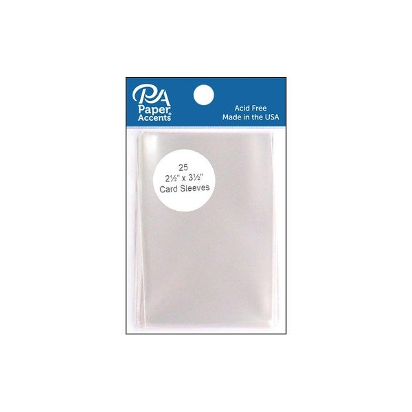 Card Sleeves 2 5x3 5 25pc Clear