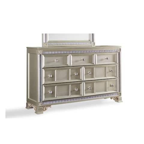 """62"""" Flaxen Wood Dresser - 7 Drawer"""