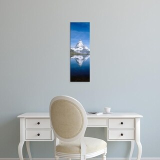 Easy Art Prints Panoramic Images's 'Lake, Mountains, Matterhorn, Zermatt, Switzerland' Premium Canvas Art