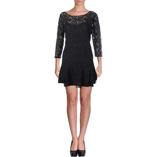 Free People Womens Casual Dress Lace 3/4 Sleeves