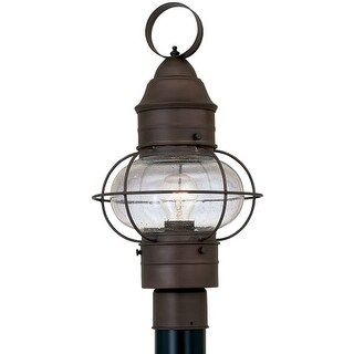 """Designers Fountain 1766-RT 1 Light 10"""" Onion Post Lantern from the Nantucket Collection"""