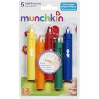 Munchkin Bath Crayons Set, 5 ea