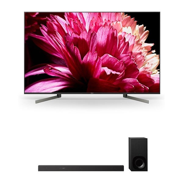 """Sony XBR55X950G 55"""" BRAVIA 4K Ultra HD HDR Smart TV and HT-Z9F 3.1-Channel Dolby Atmos Sound Bar with Subwoofer - Black"""