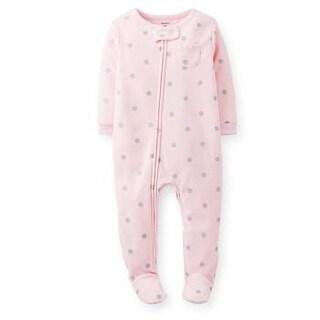 Carter's Little Girls' 1 Piece Fleece Footed Sleeper - Glitter (5T)