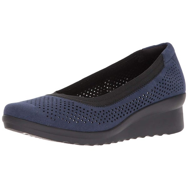 7838ce705e2 Shop CLARKS Womens caddell trail Fabric Almond Toe Clogs - Free ...