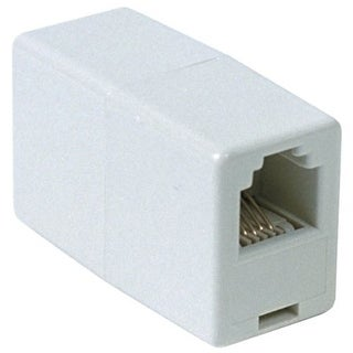 RCA 6 Conductor In Line Phone Cord Coupler