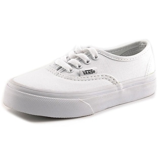 Vans Authentic Youth Round Toe Canvas White Sneakers