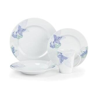 Cuisinart CDP01-S4OP Pannes Collection 16-Piece Porcelain Dinnerware Set - White
