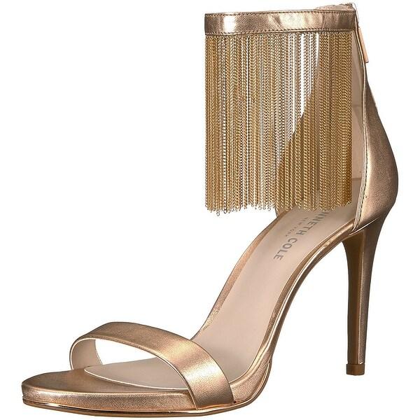 Kenneth Cole New York Women's Bettina Fringe Metallic Heeled Sandal - 6