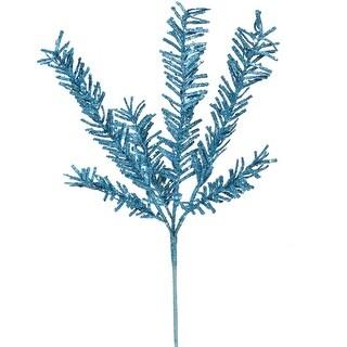 "21"" Sparkling Blue Rosemary Glitter Floral Crafting Christmas Spray"