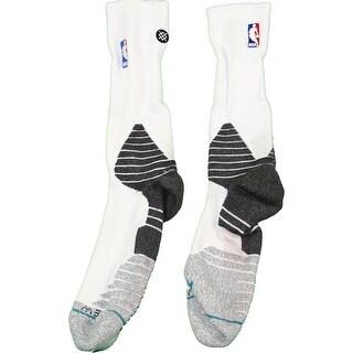 Brook Lopez Socks Brooklyn Nets 201516 Game Used 11 WhiteBlack Socks 1031