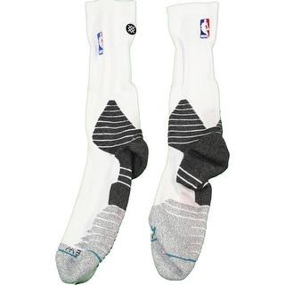 Shane Larkin Socks Brooklyn Nets 201516 Game Used 0 WhiteBlack Socks 1031