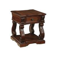 Alymere Square End Table Rustic Brown Alymere Square End Table Rustic Brown