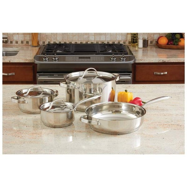 Ever Clad 7pc Heavy Duty Stainless Steel Cookware Set. Opens flyout.