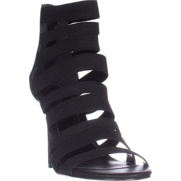 Charles Charles David Rider Black Elastic Sandals, Black