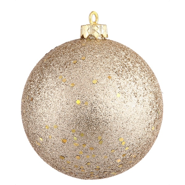 """4"""" Champagne Sequin Ball Drilled 6/Bag"""