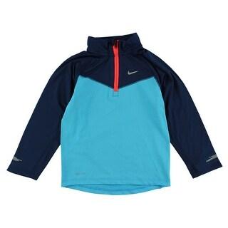Nike Boys Element Half Zip Shirt Navy - Navy/Blue