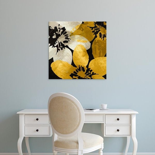 Easy Art Prints James Burghardt's 'Bloomer Tile IX' Premium Canvas Art