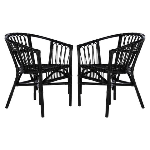 """SAFAVIEH Adriana Rattan Accent Chairs (Set of 2) - 22.8"""" W x 23.6"""" L x 30.3"""" H"""
